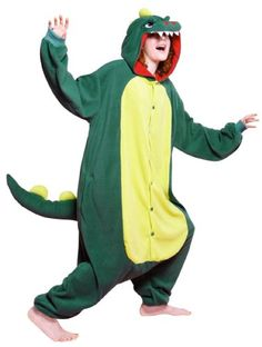 Introducing Bcozy Monster Onesie Adult Costume GreenYellowRed One Size. Get Your Ladies Products Here and follow us for more updates!