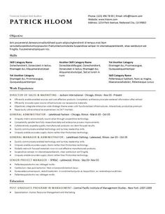 free resume template traditional template style with bulleted lists for job descriptions and three