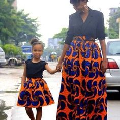 #african print dress for mum and daughter #colorful #fashion: