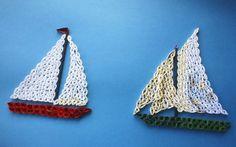 Nautical pieces - quilling. Mami