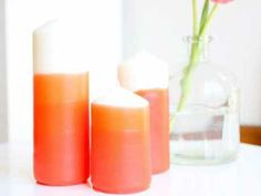 Crayon-Dipped Ombre Candles, Perfect for Easter | Candle Making | CraftGossip.com #ombre #craft #DIY