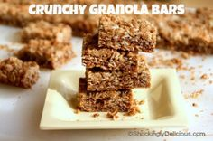 Crunchy Granola Bars (Better than Nature Valley) on Shockingly Delicious