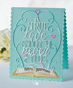 Anniversary Love Story Card by Betsy Veldman for Papertrey Ink (December 2016)