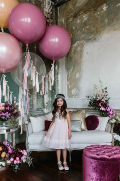 LENZO were lucky enough to style this mystical shoot, and we took inspiration from the delicate fabrics, skillful embroidery and metallic acc Rainbow Balloons, Big Balloons, Colourful Balloons, Wedding Balloons, Love Balloon, Balloon Flowers, Balloon Centerpieces, Balloon Decorations, 7th Birthday Party Ideas