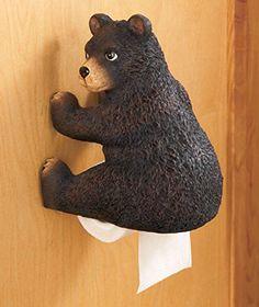 Black Bear Themed Toilet Paper Holder LTD Commodities http://www.amazon.com/dp/B00KSDVBS4/ref=cm_sw_r_pi_dp_H-R9wb0GKB3DM