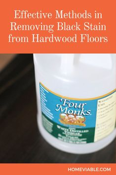 Learn the step by step process to easily remove dark, black stains from hardwood floors. These techniques and tips will restore your wood flooring in no time. #homeviable #stain #removal #black #hardwood Hardwood Floor Wax, Clean Hardwood Floors, Wood Flooring, Floor Cleaning, House Cleaning Tips, Deep Cleaning, Cleaning Hacks, Best Canister Vacuum, All Natural Cleaning Products