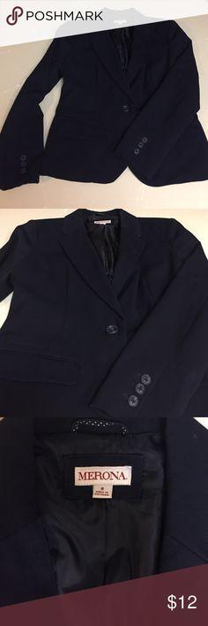 BRAND NEW! Navy Blue Merona Blazer Never worn, brand new blazer! Merona Jackets & Coats Blazers