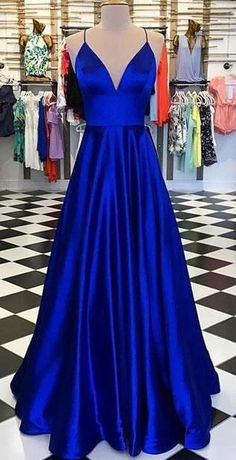 Royal Blue Long Prom Dress Custom-made School Dance Dress Fashion Wedding Formal Dress - Evening Dresses Models Royal Blue Prom Dresses, Cute Prom Dresses, Sexy Dresses, Fashion Dresses, Dress Prom, Royal Blue Long Dress, Party Dresses, Dresses For Graduation, Prom Dresses For Teens Long