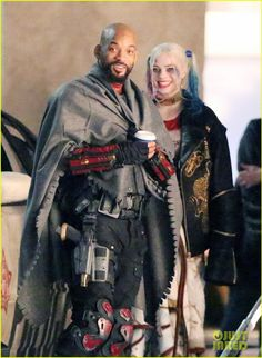 Margot Robbie and Will Smith get close in new Suicide Squad SET PHOTO -- Margot Robbie as Harley Quinn in Suicide Squad -- #comics #comicbooks #DCcomics #film #movies #scifi