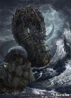 Cesta na Terth? Fantasy Wesen, Fantasy Beasts, Dark Creatures, Mythical Creatures Art, Fantasy Monster, Monster Art, Fantasy Places, Fantasy World, Arte Horror