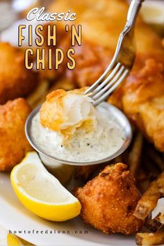 You can never go wrong with a perfectly prepared English fish n chips with homemade tartar sauce and even Southern hush puppies The BEST See ALL-NEW VIDEO with complete recipe Recipes With Fish Sauce, Sauce Recipes, Fish Recipes, Seafood Recipes, Cooking Recipes, Cooking Fish, Recipies, Fish And Chips Batter, Fish Batter Recipe