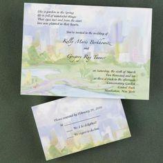 central park wedding invitations | NYC wedding invitations