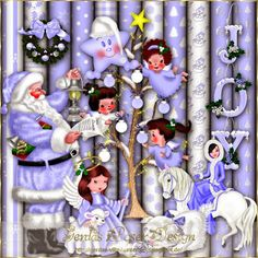 Gerdas Scrap's: Blue Christmas Scrap 2013