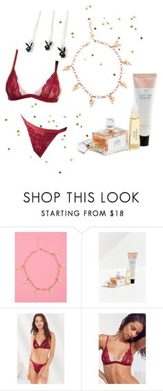 """""""for sophia"""" by wild-mink ❤ liked on Polyvore featuring He Loves Me, Gourmand, Out From Under and La Vie en Rose"""