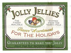 Candy label for handmade candies. Bag candies and use them as stocking stuffers. What could be better than handmade candies from the North Pole?