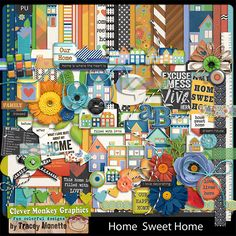 Home Sweet Home by Clever Monkey Graphics - Digital scrapbooking kits available through Oscraps, GingerScraps, or MyMemories