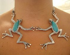 Skip & Spring Frog Necklace  Mexican Silver Store Funky Jewelry, Ear Jewelry, Animal Jewelry, Jewelery, Silver Jewelry, Jewelry Accessories, Unique Jewelry, Silver Ring, Silver Earrings