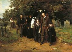 'I am the resurrection and the life' (The Village Funeral) - Frank Holl - Leeds Art Gallery Victorian History, Victorian Era, Leeds Art Gallery, Leeds City, Famous Art, Oil Painting Reproductions, Art Uk, City Art, Western Art