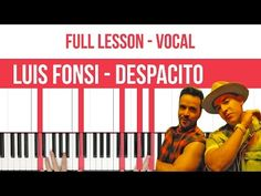 How To Play Despacito Luis Fonsi Piano (FULL LESSON) ♫ ORIGINAL+VOCAL - YouTube