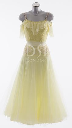 Camellia Ballroom Dress as worn by Kristina Rhianoff on Strictly Come Dancing 2014. Designed by Vicky Gill and produced by DSI London