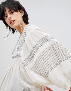 Free People | Free People Wild One Embroidered Tunic Top