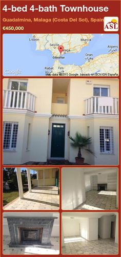 Townhouse for Sale in Guadalmina, Malaga (Costa Del Sol), Spain with 4 bedrooms, 4 bathrooms - A Spanish Life Murcia, Puerto Banus, Open Fireplace, Seaside Towns, Private Garden, Townhouse, Terrace, Bath, Mansions