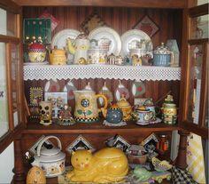 """This was shared by my Brazilian friend, Themis Abdo, """"A small collection of Debbie Mumm ceramics (Minha pequena coleção de ceramicas Debbie Mumm). I say, """"Muito obrigada!"""" What a beautiful collection of memories!"""