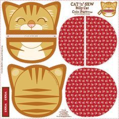 Billy_Coin_Purrse_02 fabric by woodmouse