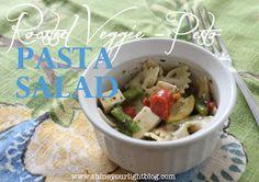 Shine Your Light: Roasted Veggie-Pesto Pasta Salad
