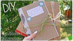 DIY School Supplies   Notizbücher/ Skizzenbücher selber machen