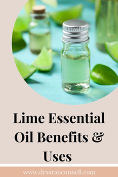 8 Natural Uses and Benefits for Lime Oil - Lime essential oil is awakening and refreshing and may help decrease depression, exhaustion and anxiety. It has antibacterial, antiviral, cleansing properties + #lime #limeessentialoil #limeeo #limeoil #essentialoils #naturalremedies #drsaraoconnell #wellness Lime Essential Oil, Essential Oils, Natural Remedies For Menopause, Menopause Relief, Oil Benefits, Ayurveda, Awakening, Cleanse, Depression