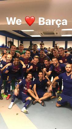 El Barça tras la victoria en el Bernabéu.