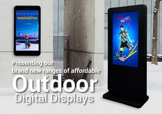 Check out our new Outdoor Digital Displays! We have wall mounted and freestanding ranges for your signage needs.