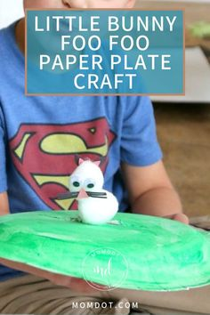 Use paper plates to create a Little Bunny Foo Foo Paper Plate Craft for Easter. Paper Plate Crafts For Kids, Easy Easter Crafts, Fun Arts And Crafts, Spring Crafts For Kids, Halloween Crafts For Kids, Crafts For Kids To Make, Christmas Crafts For Kids, Book Crafts, Paper Crafts