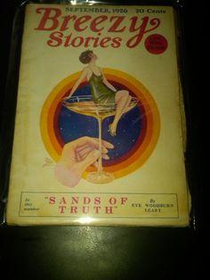 Breezy Stories September 1926 GG Flapper Martini Glass Cover