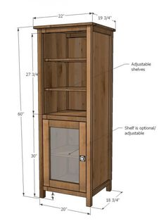 I want to make this! DIY Furniture Plan from Ana-White.com Beautiful tower bookshelf plans inspired by Pottery Barn Benchwright Towers. DIY and save money and get what you want!