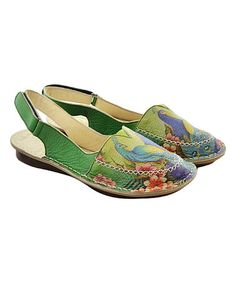 Another great find on #zulily! Passionate Peacocks Handmade Leather Sling-Back Sandal #zulilyfinds
