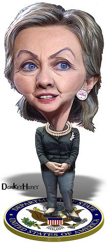 Hillary Clinton, Secretary of State...FOLLOW THIS BOARD FOR GREAT CARICATURES OF PEOPLE WE KNOW..I'LL BE ADDING NEW PINS DAILY..