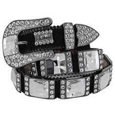 BB Simon Womens Belt Cowhide with Oversize Swarovski Elements Review