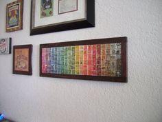 Postage Stamp Art - First Class Spectrum 120. $120.00, via Etsy.