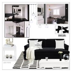 """Black and White"" by rainie-minnie ❤ liked on Polyvore featuring interior, interiors, interior design, home, home decor, interior decorating, CB2, Barclay Butera, John Lewis and WoodWick"