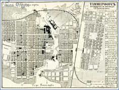 cool Tampere (Tammerfors) Finland Map