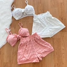 Modelo do short Girls Fashion Clothes, Fashion Outfits, Womens Fashion, Mode Outfits, Girl Outfits, Diy Summer Clothes, Cute Lazy Outfits, Pajama Outfits, Lingerie Outfits