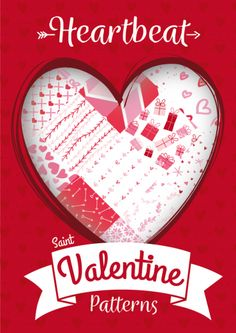 Heartbeat, Free 20 Seamless Vector Patterns for Saint Valentine's Day Saint Valentine, Valentines Day, Vector Pattern, Free Pattern, In A Heartbeat, Make It Yourself, Projects, How To Make, Valentine's Day Diy
