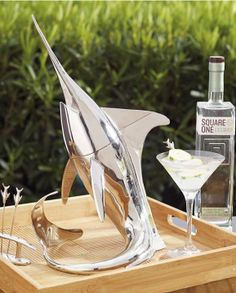Our Swordfish Cocktail Shaker Set adds a nautical touch to any bar.