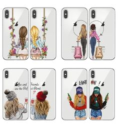 "Best Friends BFF Matching Phone Cases ""We're gonna be best friends forever!"" Raise your BFF game with these cute matching case designs. Surprise your bestie … Bff Iphone Cases, Bff Cases, Cute Phone Cases, Iphone 6, Best Friend Cases, Friends Phone Case, Best Friend Gifts, Best Friend Drawings, Bff Drawings"