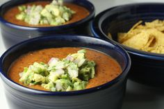 Kidney Bean Soup - basically meatless chili. I'm a fan, Mike not so much...  The guac makes it even better