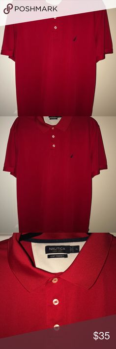 Nautica three button polo shirt with emblem Three button polo shirt with emblem Polo by Ralph Lauren Shirts Polos Polo Shirt, Polo Ralph Lauren, Buttons, Man Shop, Best Deals, Mens Tops, Closet, Shirts, Things To Sell