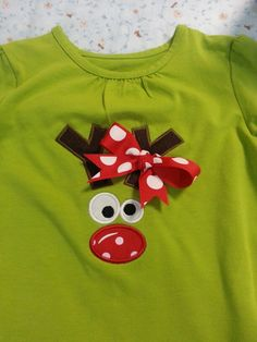 Custom girl's Christmas shirt Christmas Shirts For Kids, Christmas Tutu, Christmas Applique, Toddler Christmas, Christmas Sewing, Christmas Embroidery, Ugly Christmas Sweater, Xmas, Just In Case