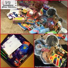 Some of the goodies in our #DisneySide @ Home Celebration kit #DisneyParks #MomSelect